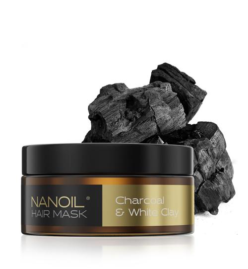 NANOIL CHARCOAL & WHITE CLAY HAIR MASK
